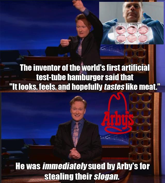 arbys slogan joke conan