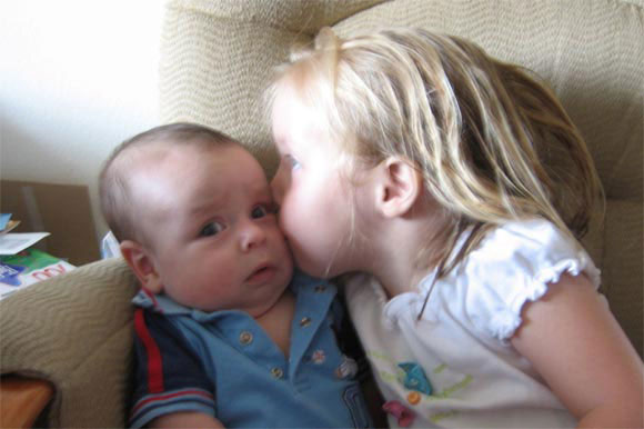 baby-kissing-funny-face