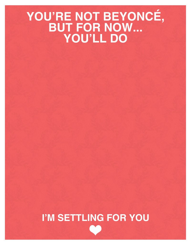 beyonce valentines day card