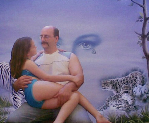 bizarre dad painting