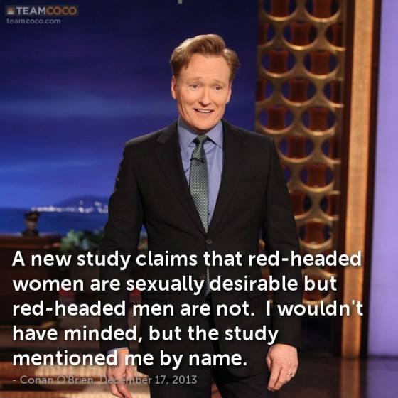 conan o brien red headed men unattractive