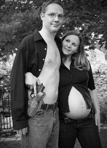 creepy pregnant photo