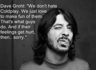 dave grohl coldplay