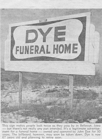 dye funeral home