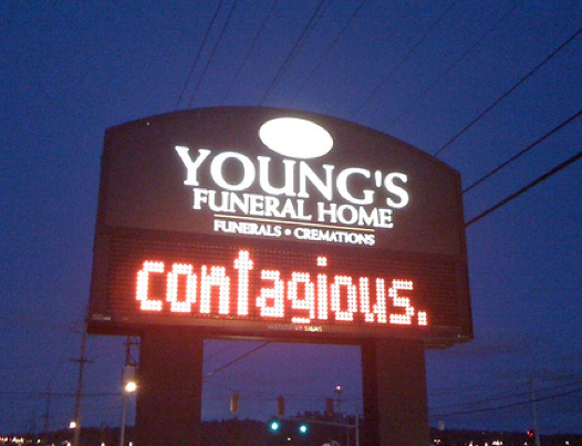 funeral home funny sign