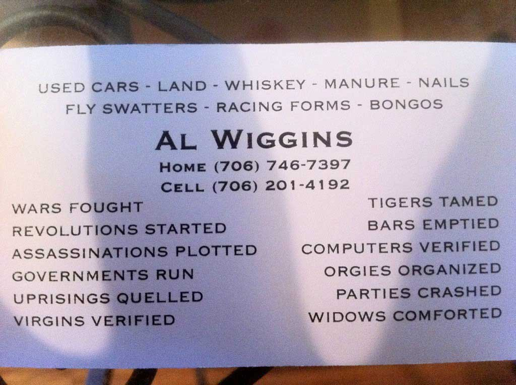The 20 Funniest Business Cards Of All Time Gallery