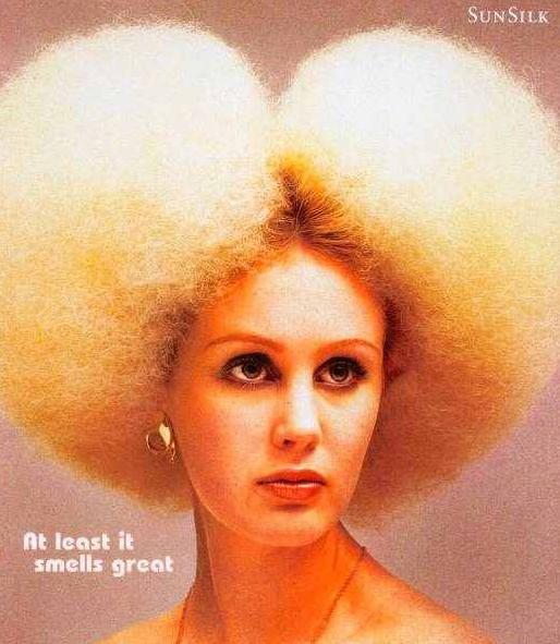 funny hair girl