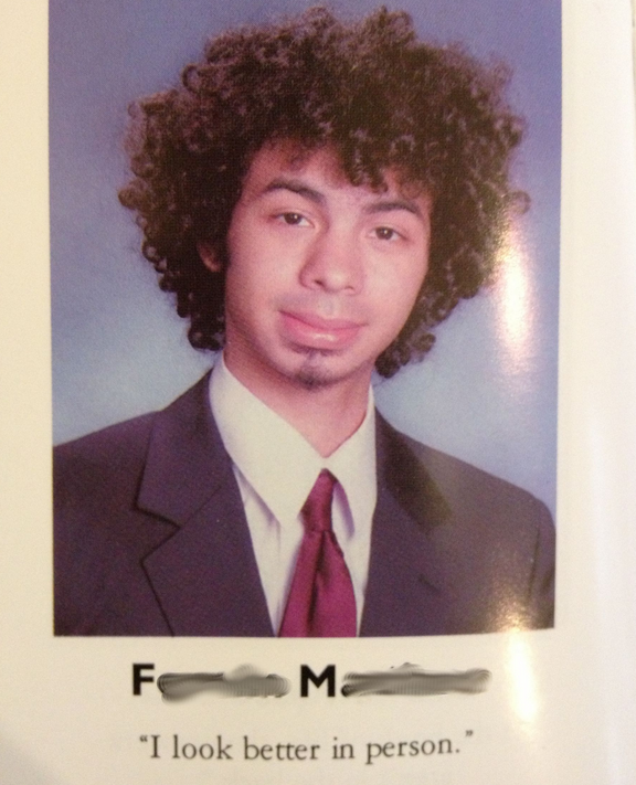 funny yearbook quote photo