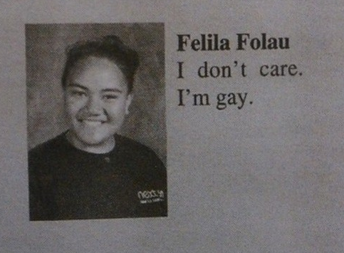 gay yearbook quote