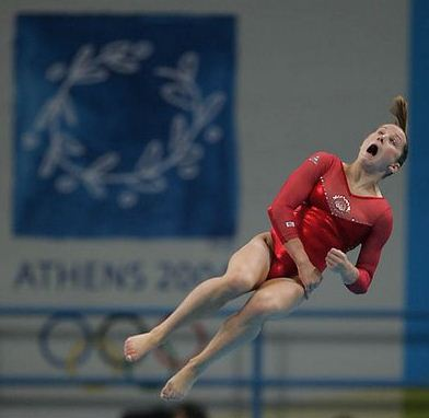 gymnastics faces