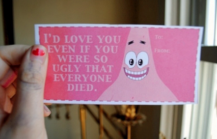 honest valetines cards