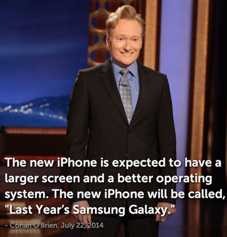 iphone joke conan samsung galaxy