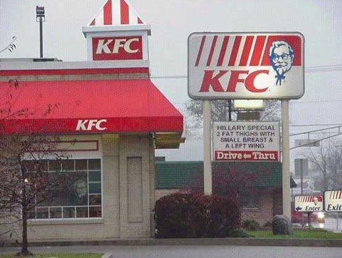 kfc funny sign