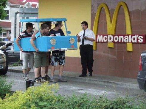 mcdonalds drive thru funny