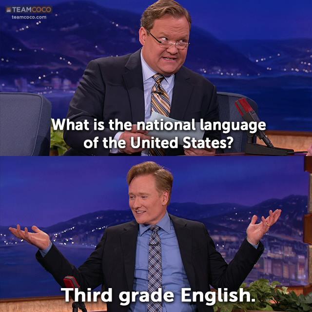 national language usa
