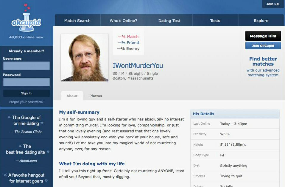 Www okcupid com profile search