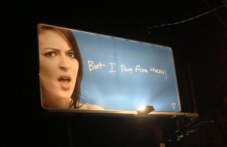 poop billboard