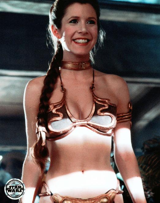 Princess leia metal bikini oops