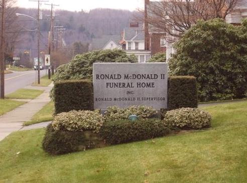 ronald mcdonald funeral home