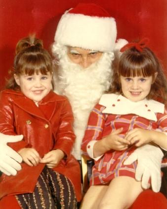 santa funny lap