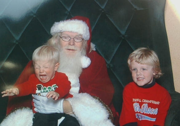 santa lap creepy