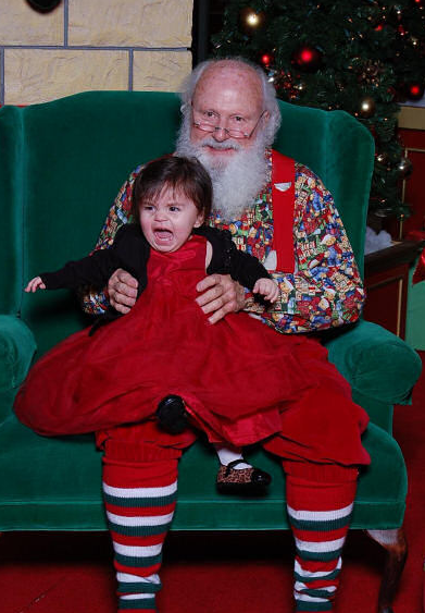santas lap creepy