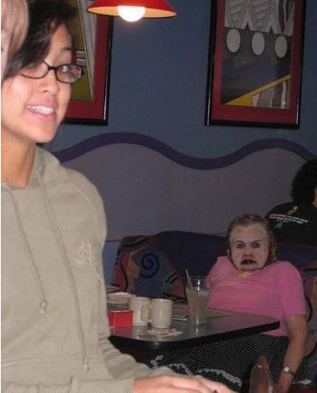 scary lady photo