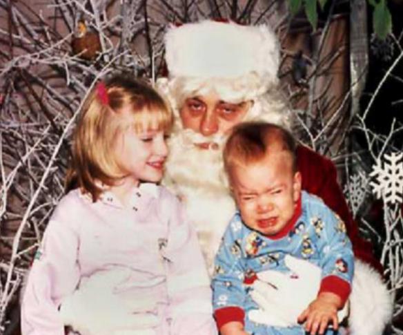 sketchy weird santa
