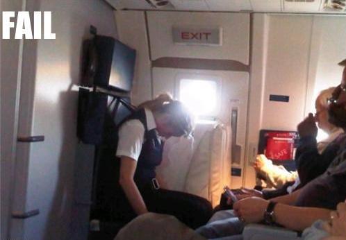 stewardess fails