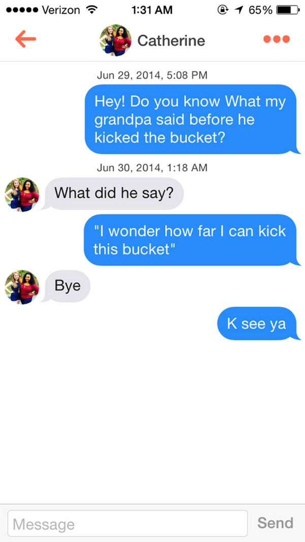 Funny tinder conversations starters