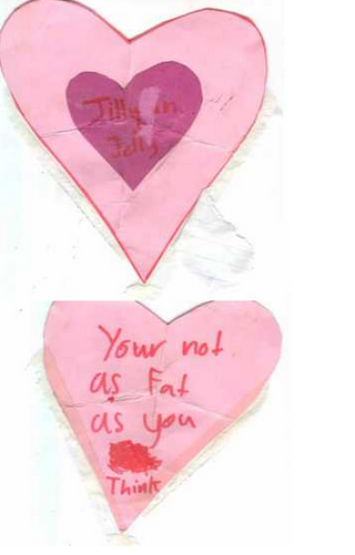 valentines day card fat