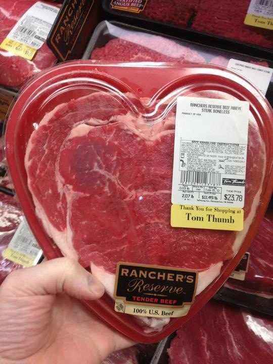 valentines meat