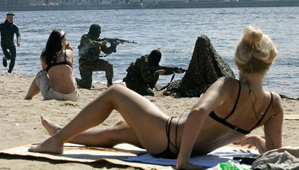 weird beach photo