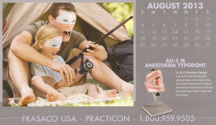 weird faces calendar