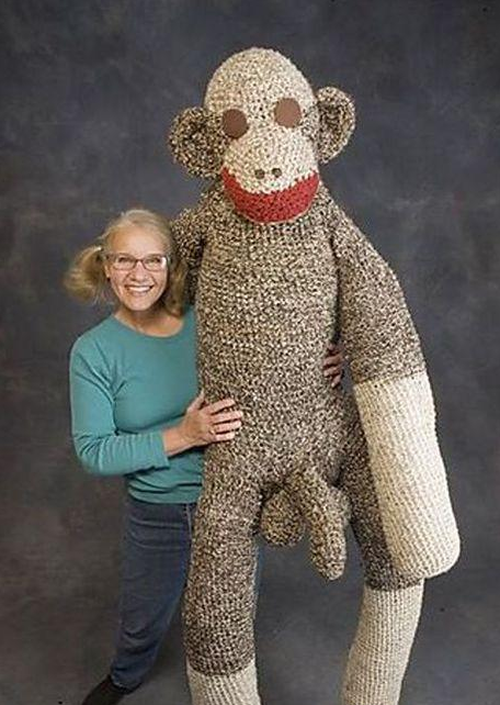 weird monkey photo