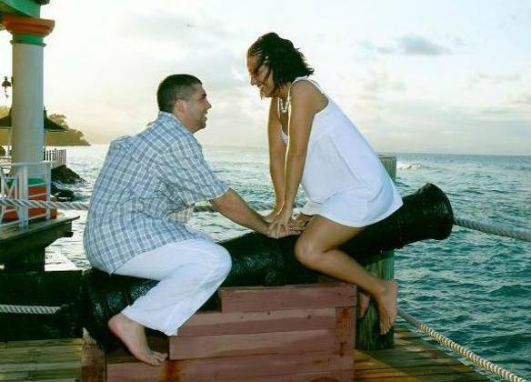 weirdest engagement photo ever