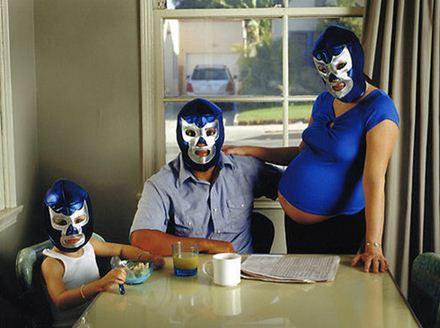 wrestling pregnancy photo