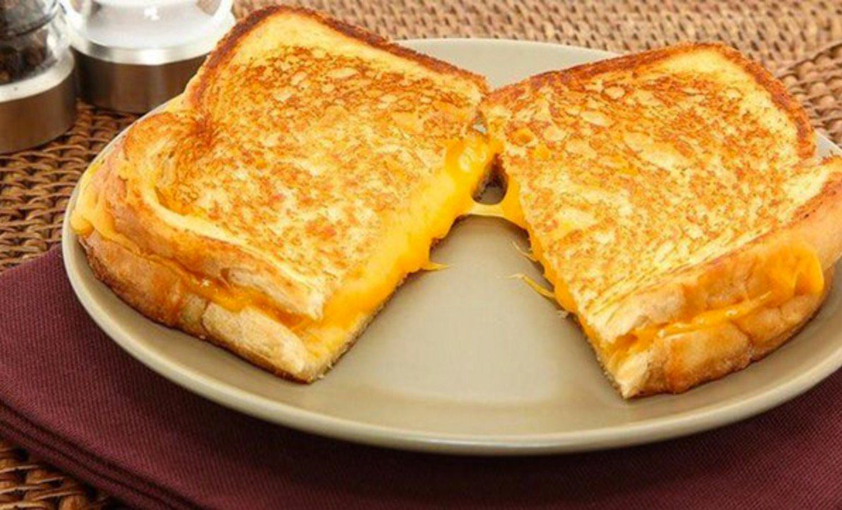 man barricades himself grilled cheese