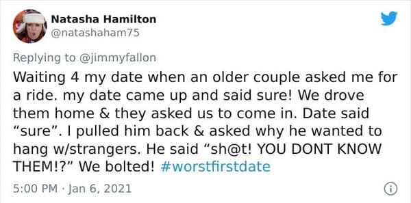 worst first date tweets, hilarious first date tweets, funny first date stories