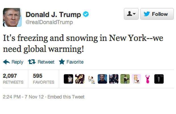 Trump Klimawandel Tweet