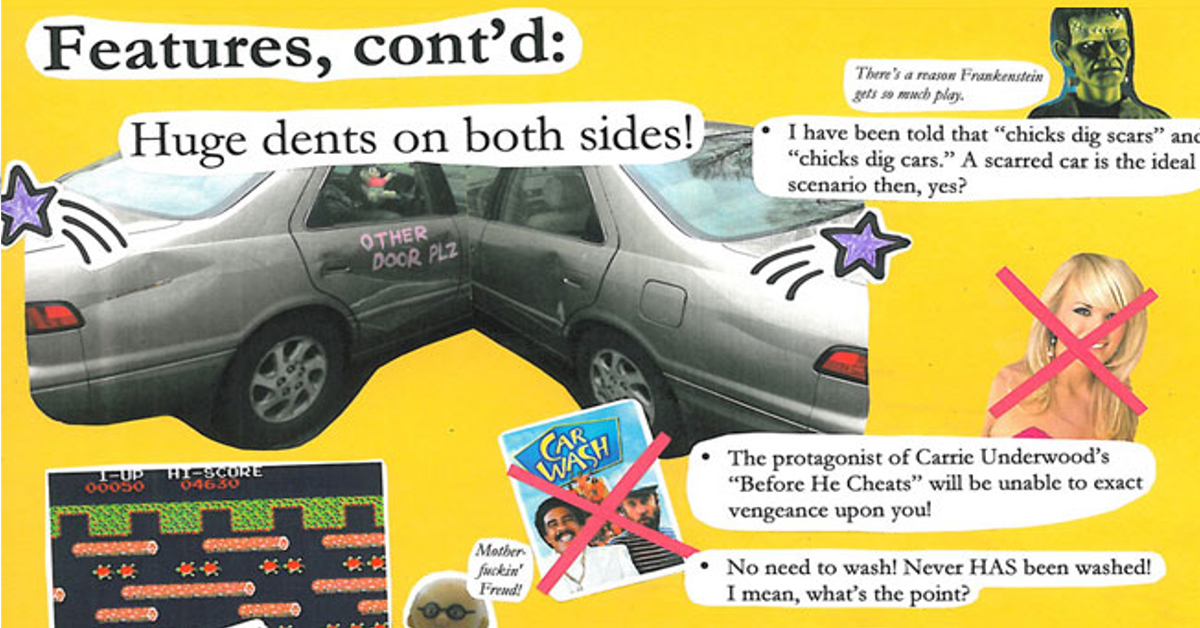 13 Hilarious Used Car Ads That Are Refreshingly Honest