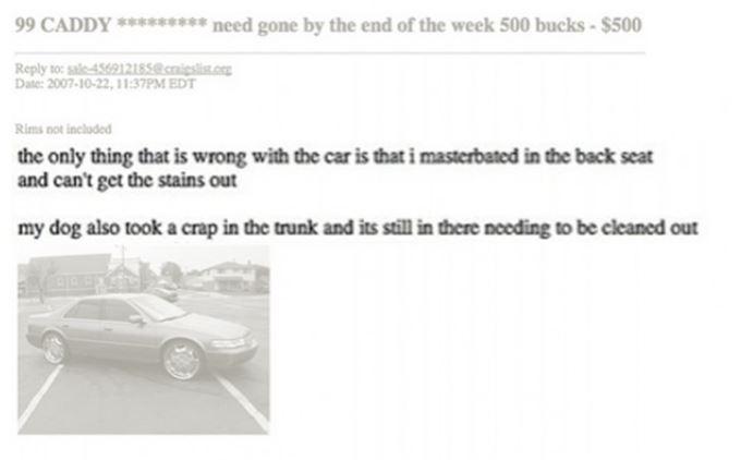 Car Ad Fail