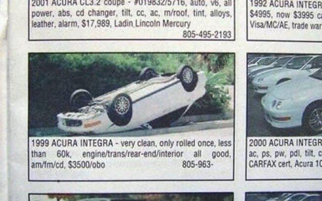 hilarious car advertisement