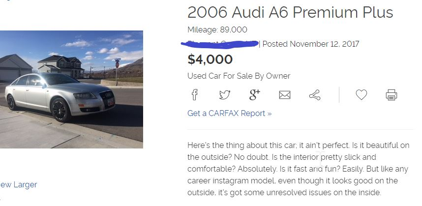 Hilarious Used Car Ads