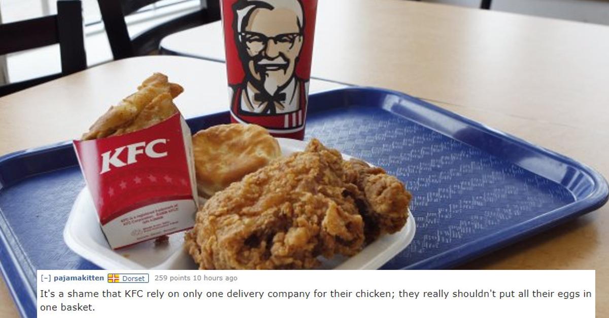Kfc Funny Chicken Joke: KFC Chicken Shortage Leads To Fowl Internet Jokes