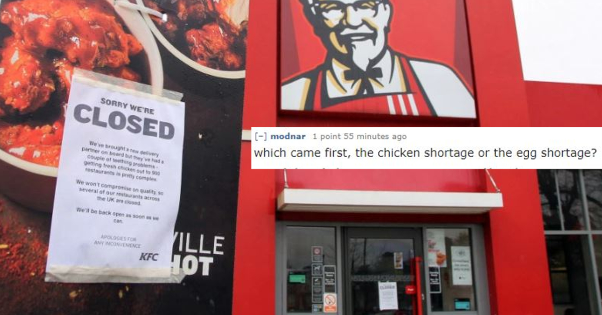 KFC Chicken Shortage Leads To Fowl Internet Jokes