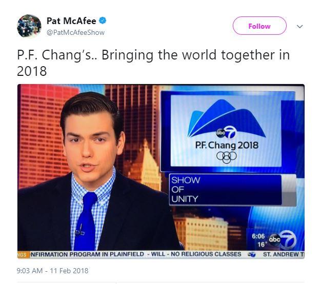 PF Chang's Pyeongchang 2018
