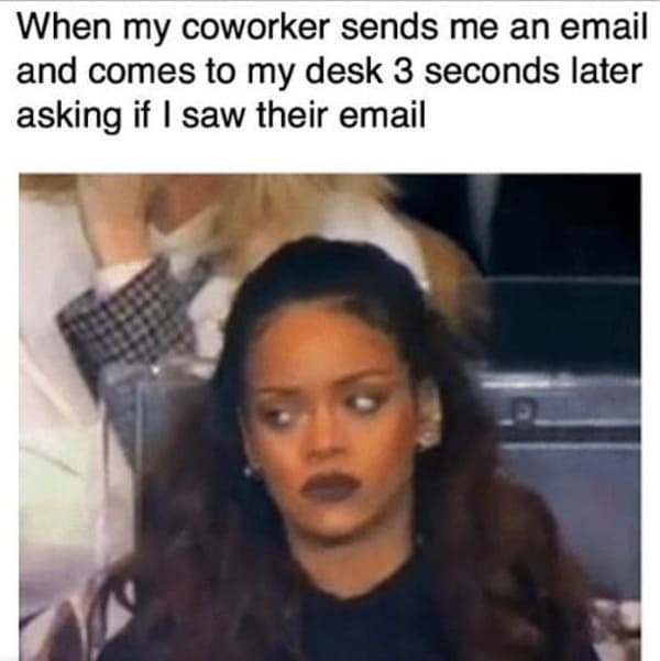 co-worker comes to desk funny meme