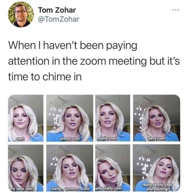 zoom call work meme