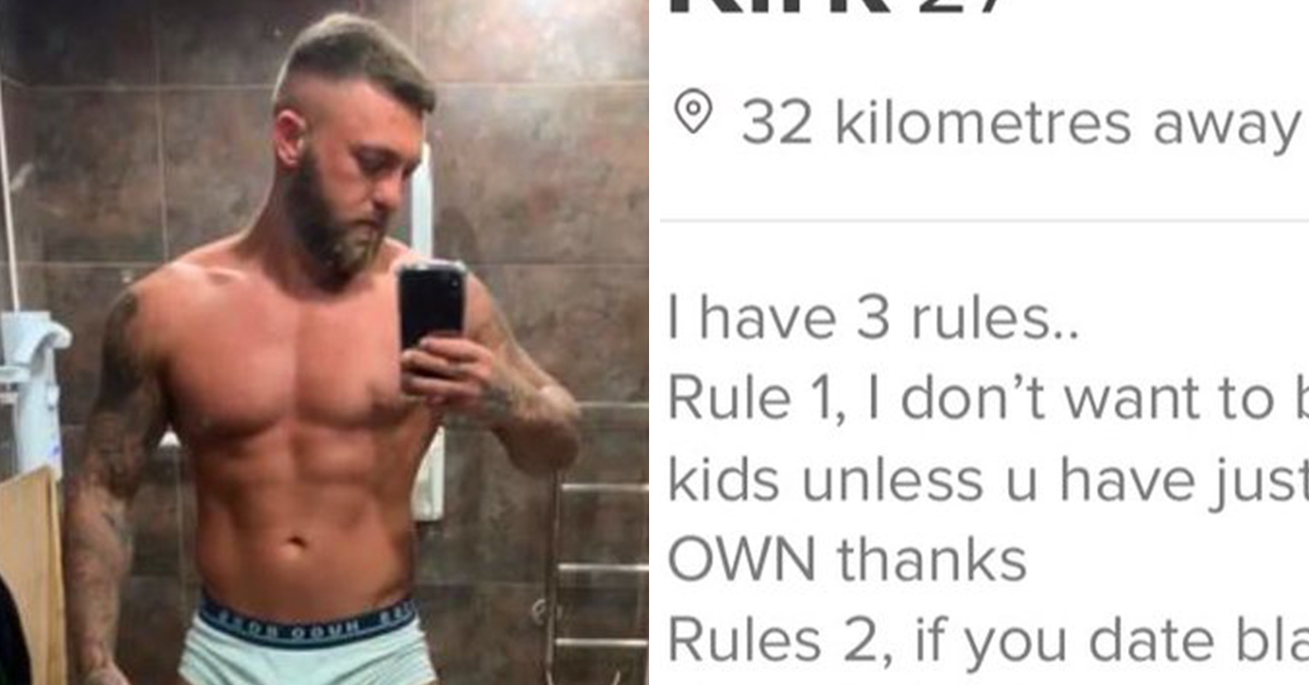 Man's Racist Rules On Tinder Have People Calling Him 'Trash'